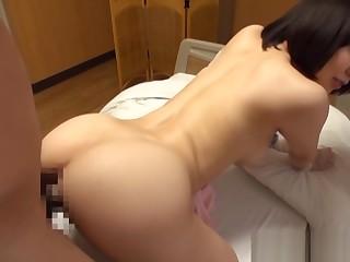 Yuu Shinoda wild Asian nurse bounces on a boner being done