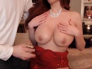 Gorgeous Newborn In Red Attire Gets Fucked