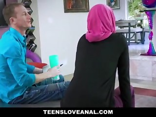 TeensLoveAnal - Adorable Muslim Teenage Rectal Nailed in Hijab