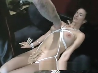Busty brunette hottie gets spanked overwrought a really horny stallion