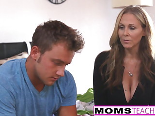 MILF Julia Ann Threeway With Step-Son with the addition of Teen Creampie