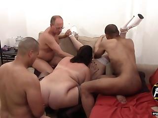 UK Bareback Gangbang Sluts Casting Settee