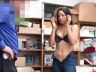 Half Mexican stunner Amethyst Banks gets her indiscretion and pussy punishes for daylight robbery