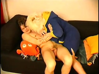Mature bbw blonde seduces their way young French neighbor