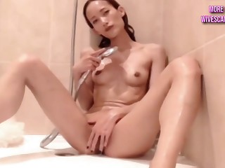 Nasty Skinny Asian Young Cutie Masturbates - 18 length of existence superannuated