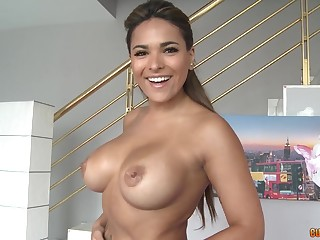Latina milf shows off will not hear of skills on a big dick