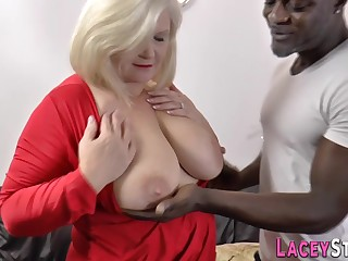 Mother I´d Like To Fuck floozie in stockings blacked - MILF