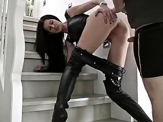 Horny brunette gf doggystyle fucking