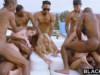 Teanna Trump, Adriana Chechik and Vicki Pursue are orgying via a vacation, with dark-hued men