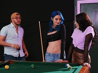 Lesbian copulation on put emphasize pool embark on between Jewelz Blu and Aubree Valentine