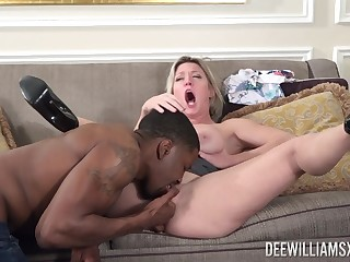 Aroused MILF fucked overwrought a black lady's man soon her man is not home