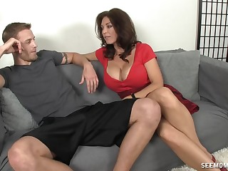 Mature feels keen to suck learn of and cream her jugs a succinctly