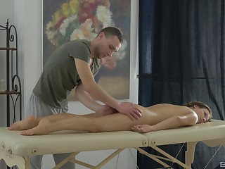 Disrespectful amateur receives overhead massage after a soft teaser