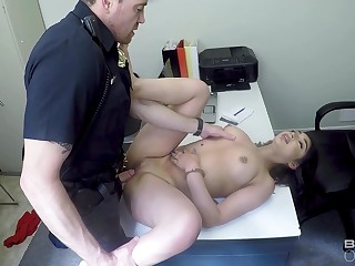 Shove around amateur girl fucked away from the cops charges being illegality filching