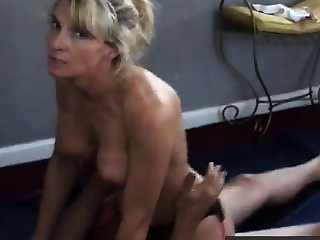 Girl talks censorious while cuckold husband films her with bull